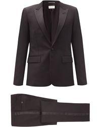 Saint Laurent ウールクレープ シングルスーツ - ブラック