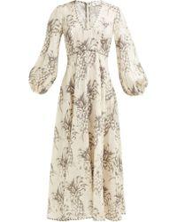 Zimmermann Wayfarer Pineapple Linen Dress - Natural