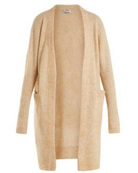 Acne Studios - Raya Brushed-knit Cardigan - Lyst