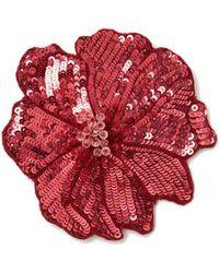 Racil - Sequin Embellished Flower Brooch - Lyst