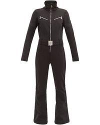 Toni Sailer Combinaison de ski en tissu souple Lotta - Noir