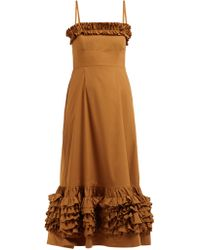 Gathered Lyst Dorcas Cotton Poplin Molly Dress Goddard ZikuPXO
