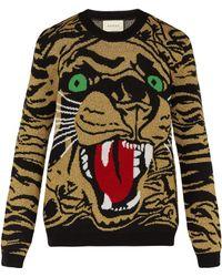 Gucci - Tiger Wool Blend Jumper - Lyst