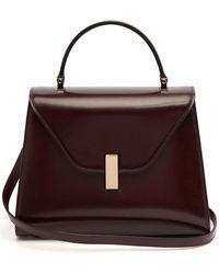 Valextra Iside Medium Leather Bag - Purple