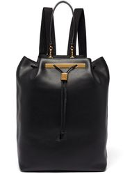The Row 11 Leather Backpack - Black