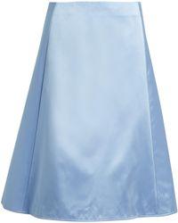 Nina Ricci - A-line Silk Duchess-satin Skirt - Lyst