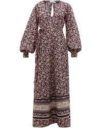 The Upside Kate Paisley And Floral Linen-blend Wrap Dress - Multicolour