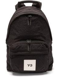 Y-3 テックライトツイーク ナイロンバックパック - ブラック