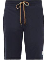 Paul Smith Striped-drawstring Cotton-jersey Pyjama Shorts - Blue