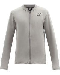 Castore Logo-print Technical-jersey Zipped Jacket - Grey