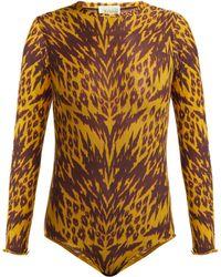 Aries - Tiger-print Mesh Bodysuit - Lyst
