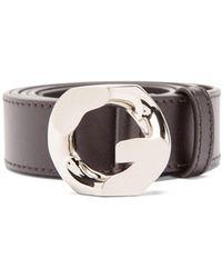 Givenchy Gロゴ レザーベルト - マルチカラー