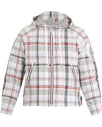 Moncler Gamme Bleu - Checked Hooded Cotton Blend Jacket - Lyst