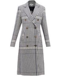 Loewe Manteau habillé en lin à carreaux - Multicolore