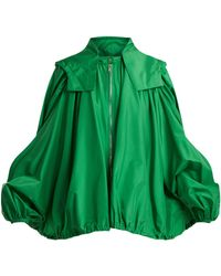 Valentino - Oversized Hooded Silk Jacket - Lyst