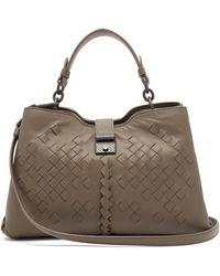 Bottega Veneta - Napoli Intrecciato Small Leather Bag - Lyst