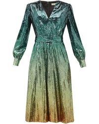 Mary Katrantzou Theresa Dégradé Sequinned Dress - Green