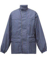 Balenciaga - ストライプ オーバーサイズ リップストップジャケット - Lyst