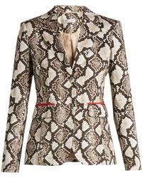 Altuzarra - Fenice Python-print Cotton-blend Blazer - Lyst
