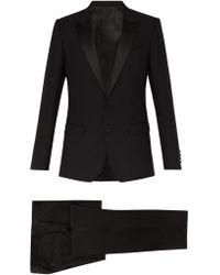 Dolce & Gabbana Smoking à revers en pointe - Noir