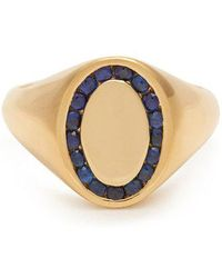 Jessica Biales - Sapphire & Yellow-gold Ring - Lyst