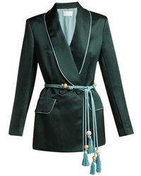 Peter Pilotto - Double-breasted Satin Blazer - Lyst