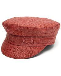 Ruslan Baginskiy Straw Baker Boy Cap - Red