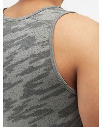 lululemon athletica Metal Vent 2.0 Printed Silverescent®-mesh Tank Top - Black
