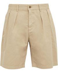 Hope - Tuck Cotton Twill Shorts - Lyst