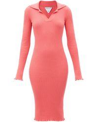 Bottega Veneta コットン リブドレス - ピンク