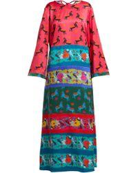 Rianna + Nina - Arline Silk Midi Dress - Lyst