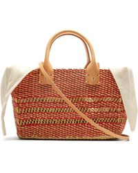 Muuñ Carrie Woven-straw Basket Bag - Multicolour