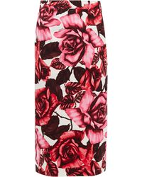 Prada 'roses' Skirt - Red
