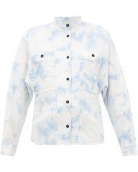 Étoile Isabel Marant Barney Mandarin-collar Cotton-blend Shirt - White