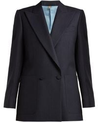 Burberry - Pin-dot Double-breasted Wool Jacket - Lyst