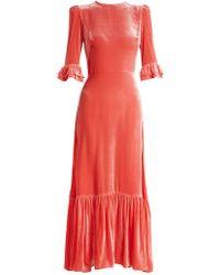 The Vampire's Wife - Festival Ruffled Velvet Dress - Lyst