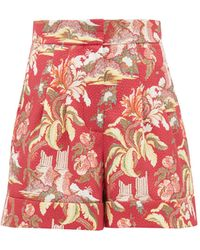 Peter Pilotto High-rise Floral-print Shorts - Red