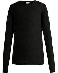 Raey - Long Sleeved Slubby Cotton Jersey T Shirt - Lyst