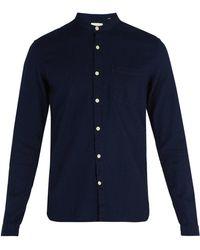 Oliver Spencer - Grandad Collar Cotton Shirt - Lyst