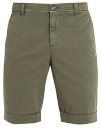Brunello Cucinelli - Straight-leg Cotton-gabardine Shorts - Lyst