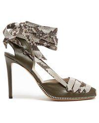 Altuzarra - Python-print Ribbon D'orsay Leather Court Shoes - Lyst