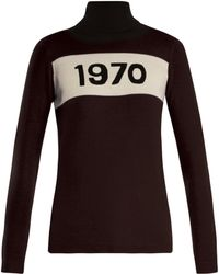 Bella Freud 1970 Wool Roll Neck Jumper - Black