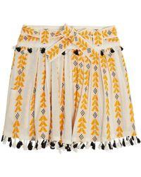 Dodo Bar Or - Cotton Jacquard & Lace Skirt W/ Tassels - Lyst