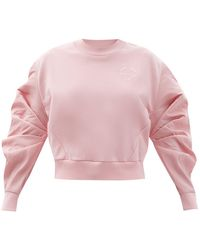 Alexander McQueen サテンスリーブ コットンスウェットシャツ - ピンク