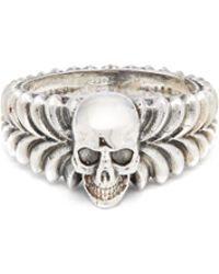 Emanuele Bicocchi - Men's Engraved Skull Ring - Lyst