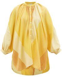 Marrakshi Life Striped Cotton-canvas Tunic - Yellow
