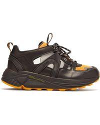 Ganni Brooklyn Low Top Leather Sneakers - Black