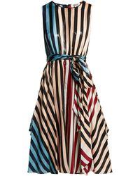 Diane von Furstenberg Carrington Stripe Silk Blend Dress - Multicolour