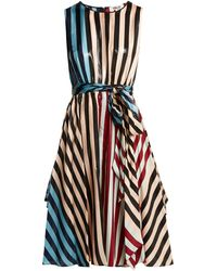 Diane von Furstenberg Carrington Stripe Silk-blend Dress - Multicolor