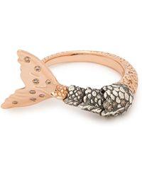 Bibi Van Der Velden - Mermaid Brown Diamond And 18kt Rose Gold Ring - Lyst